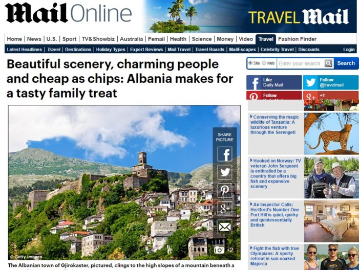 """Reportazh në """"Daily Mail"""": Shqipëria, një pamje e bukur dhe e lirë sa patatinat"""