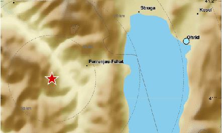 Lëkundje tërmeti në juglindje të vendit