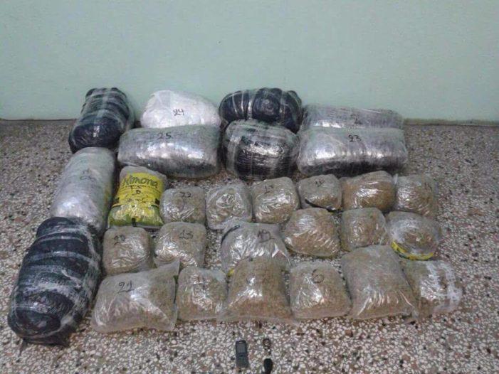 Kufiri greko-shqiptar, kapen 37 kg marijuanë, në pranga 2 shtetas grek