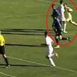 VIDEO/ Portieri i Luftëtarit qëllon me grusht futbollistin e Kamzës
