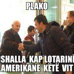 'Plako, ishalla kap Lotarinë Amerikane këtë vit', memet e javës nga Gjirokastra  (FOTO)