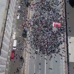 Pamjet me dron të protestës. PD: 1500 vetë erdhën nga Gjirokastra… (VIDEO)