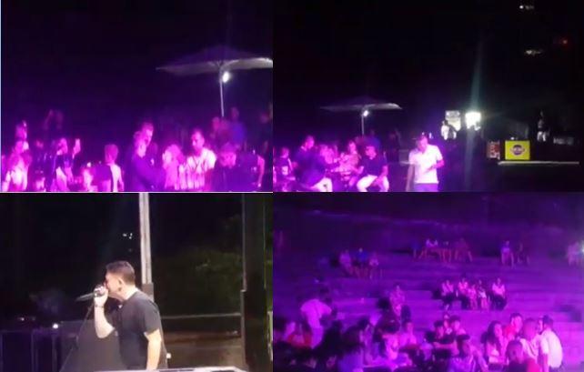 Mafiozi Xhon Alite shfaqet në Gjirokastër, dëgjon këngët e Ylli Bakës në koncertin e bamirësisë (VIDEO)