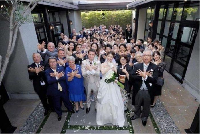 'Çmenden' japonezët, bëjnë simbolin e shqiponjës në dasëm (FOTO)