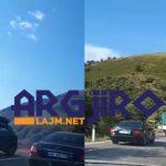 Aksident në Qafën e Muzinës, del nga rruga makina me targa 'Gjirokastra' (VIDEO)