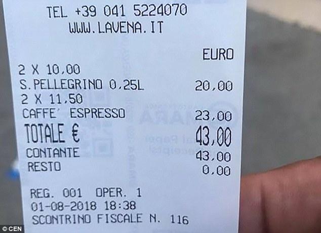 Fatura që po 'çmend' rrjetin. Dy kafe dhe dy ujë… 43 euro