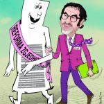 Deputeti i Gjirokastrës në karikaturën e Bujar Kapexhiut