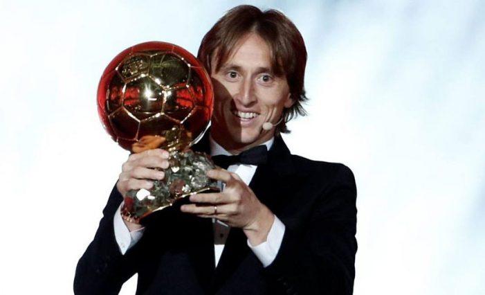 Për herë të parë një kroat, Luka Modric fiton 'Topin e Artë'