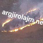 Tepelenë, zjarr masiv pranë Urës së Leklit (FOTO)
