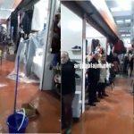 Pa u mbushur 6 muaj nga inagurimi, Tregu Industrial i Gjirokastrës mbushet me ujë (VIDEO)