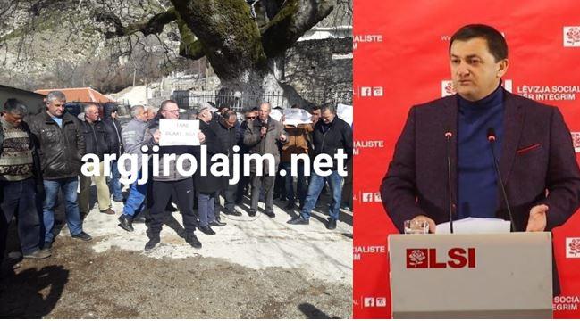 Hipokrizia e Vangjel Tavos me HEC-in në Kolonjë: Heshti për dy vjet edhe pse kishte dijeni për lejen, reagon sot pasi banorët u çuan në protestë