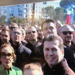 FOTO LAJM/ Shihni fytyrën e Bashë, Monës, Berishës dhe Mediut teksa po sulmohet Kryeministria