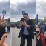 VIDEO/ Shihni si e presin militantët e PD-së Lulzim Bashën në Gjirokastër