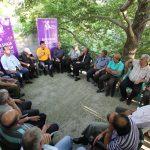 Fushata në Gjirokastër, Flamur Golemi takim në fshatin e Fatos Nanos (FOTO)