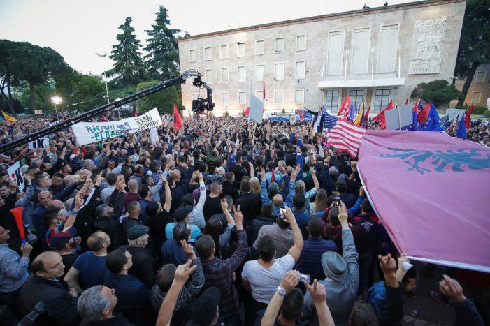 Sot protesta e 7-të kombëtare e opozitës përpara Kryeministrisë