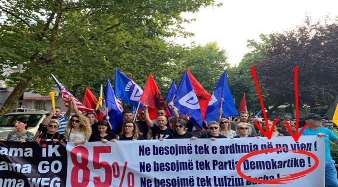 Gafa në protestën e opozitës, shihni këtë foto